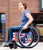 The Flight Ultralight Wheelchair weighs just 18 pounds with wheels.