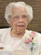 Ella Mae Johnson at her 105th birthday party earlier this month