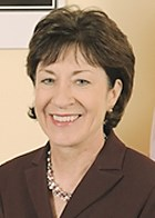 Susan Collins of Maine was one of just a few Republican senators who voted for the stimulus package.