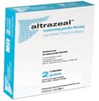 Altrazeal transforms from powder to skin-like dressing