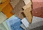 Rubber floor covering offers subtle pattern change
