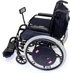 Wheelchair can detect force applied to the wheels