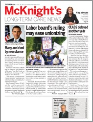 October 2011 Issue of McKnight's Long Term Care News
