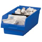 Plastic storage bins carry their weight