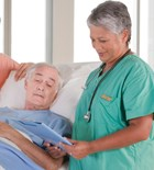 Residents prefer caregivers who will sit down on the job