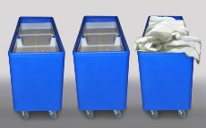 Feeder truck eases laundry hassles