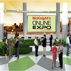 The McKnight's Online Expo is now underway