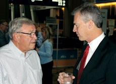 AHCA top executive Mark Parkinson (right) with predecessor Bruce Yarwood