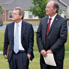 Ohio Attorney General Mike DeWine (left) called for stricter nursing home oversight.