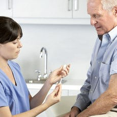 Drug injections have helped foot ulcers heal much more quickly.