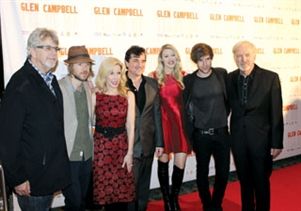 Producers of the documentary with Campbell family members.