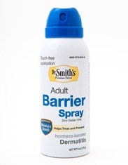 Adult barrier spray used to prevent dermatitis