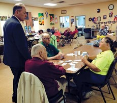 Assemblyman Vincent Mazzeo visited the Buena Senior Center in Minotola.