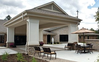Lourdes Senior Community is sponsored by the Dominican Sisters of Peace and recently completed a $10 million renovation. Private rooms, a larger gym and two bariatric rooms are among the new features.