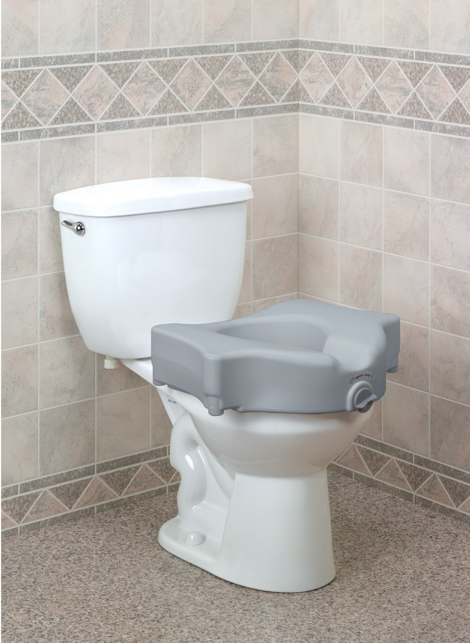 New bariatric locking toilet seat released
