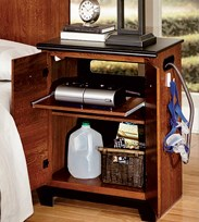 CPAP nightstands created to store equipment