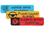 Medication labels are written in Spanish