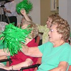 Supporters Tuesday cheer on the SAS Strikers, which won the NSL championship match.