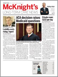 August 2012 Issue of McKnight's Long Term Care News
