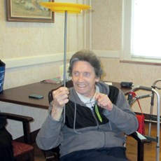 Resident Don Martin says he likes learning Big Top tricks.