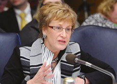 A dispute between Blue Cross/Blue Shield and transport companies has Sen. Kathy Sheran in action.