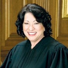 Justice Sonia Sotomayor weighed ACA-related arguments from the DOJ and a Catholic provider.