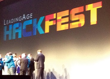 Leading Age Hackfest winners and runners-up celebrated at Monday's General Session.