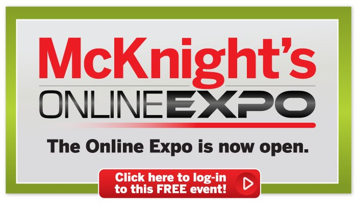 McKnight's Online Expo is open