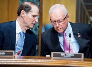 Sen. Orrin Hatch (R-UT), right, and Sen. Ron Wyden (D-OR) are on a Senate committee evaluating chronic care proposals that may change payments.