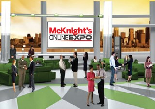 The Expo's virtual conference hall simulates in-person networking.