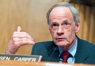 Sen. Tom Carper wants to know if there have been civil penalties in cases of nursing home workers posting inappropriate photos or videos to social media.