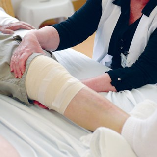 Nearly 40% of joint replacement costs come after hospital discharge.