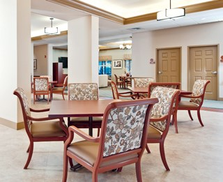 Furnishings in high-use areas should have proper coatings and materials to avoid a need for early replacement.