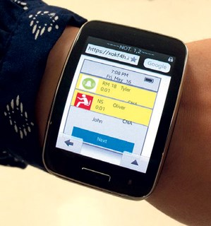 The smartwatch application could improve communication and notification in nursing homes, researchers said.