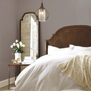 Sherwin-Williams Poised Taupe Bedroom