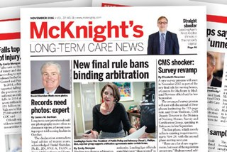 This 2016 issue of McKnight's was singled out for news coverage.