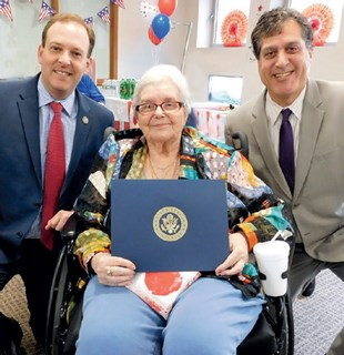 Adele Danon receives a Congressional Proclamation
