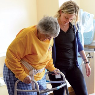Core- and balanced-focused activities can help improve residents' balance and reduce the risk of falls for those with Parkinson's disease, experts say.