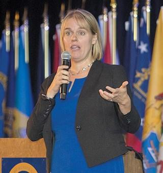 CMS' Karen Tritz addressed NAHCA in September.