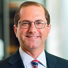 Former Eli Lilly executive Alex Azar was named HHS Secretary on Monday.