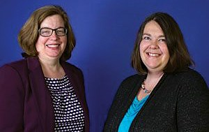 Elisabeth O. Burgess (left) and Jennifer Craft Morgan will lead a multiyear project to improve Georgia's nursing homes.