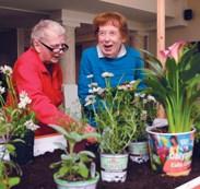 Gardening therapy via provider-vendor partnership