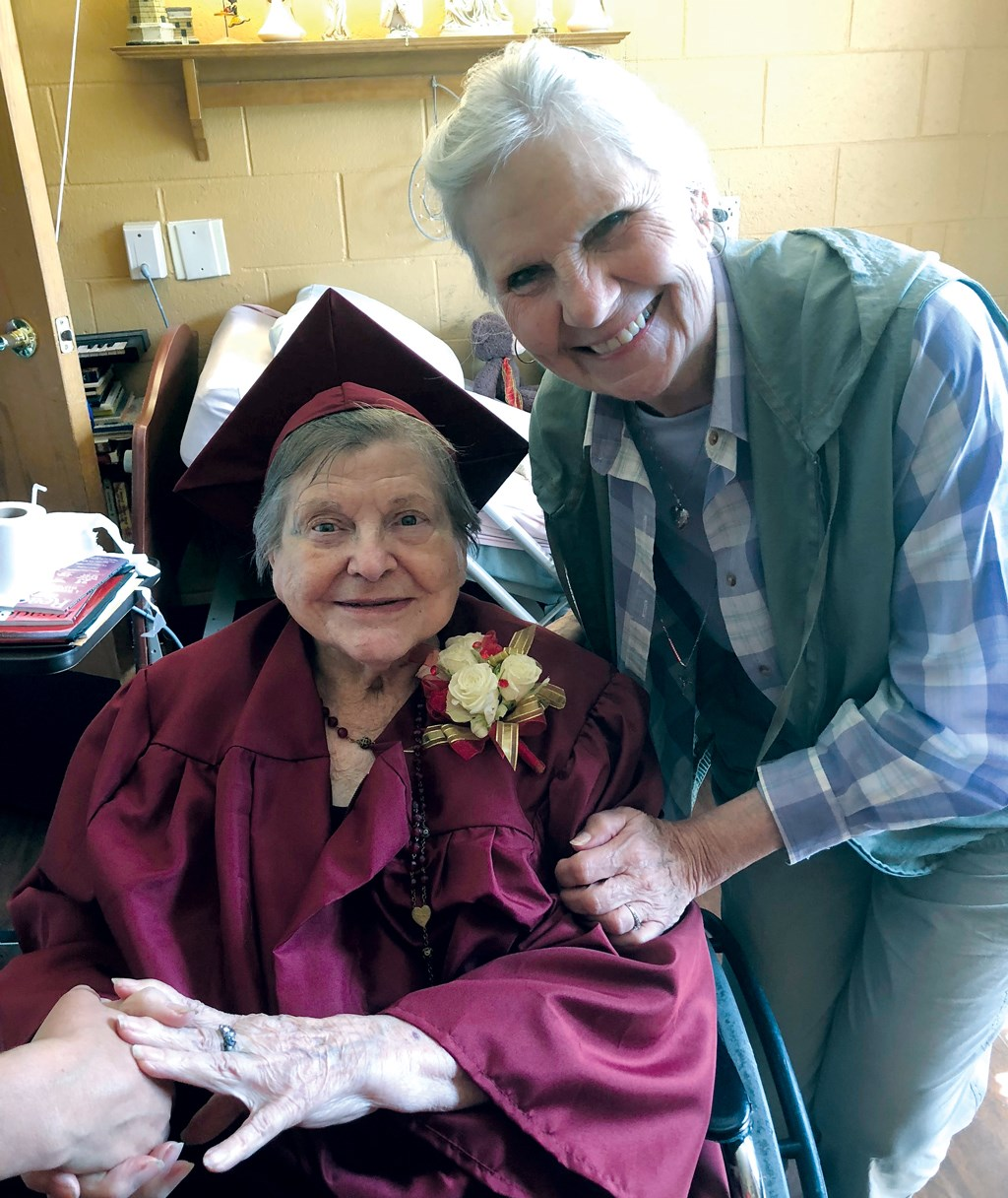Resident gets her high school diploma at 92